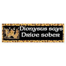 Dionysus Drive Sober (bumper) Bumper Car Sticker
