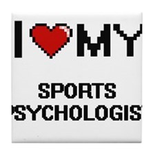 Cute Sports psychologists Tile Coaster