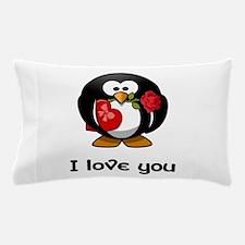 I Love You Penguin Pillow Case