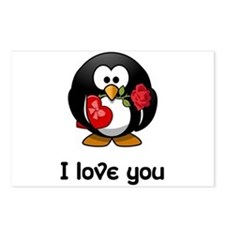 I Love You Penguin Postcards (Package of 8)