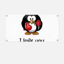 I Love You Penguin Banner