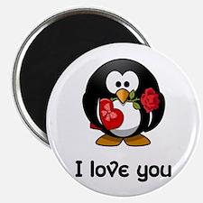 I Love You Penguin Magnets