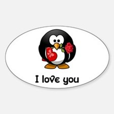 I Love You Penguin Decal