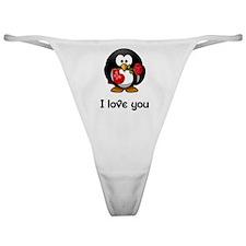 I Love You Penguin Classic Thong