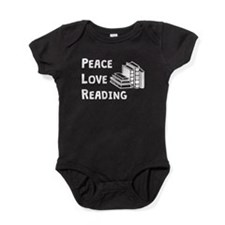 Peace Love Reading Baby Bodysuit