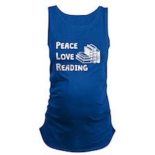 Peace Love Reading Maternity Tank Top