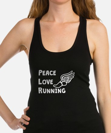 Peace Love Running Racerback Tank Top