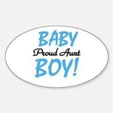 Baby Boy Proud Aunt Oval Decal