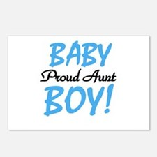 Baby Boy Proud Aunt Postcards (Package of 8)