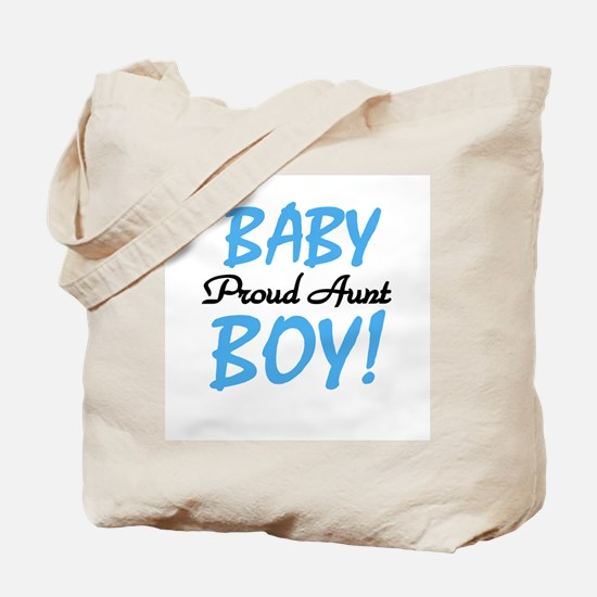 Baby Boy Proud Aunt Tote Bag