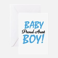 Baby Boy Proud Aunt Greeting Card