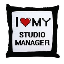 I love my Studio Manager Throw Pillow