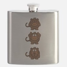 Hear No Evil, Speak No Evil, See No Evil Mon Flask