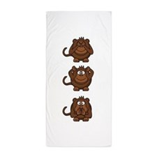 Hear No Evil, Speak No Evil, See No Ev Beach Towel
