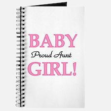 Baby Girl Proud Aunt Journal