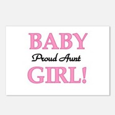 Baby Girl Proud Aunt Postcards (Package of 8)