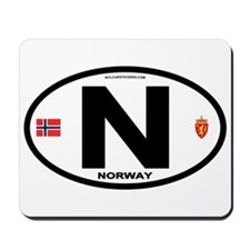 Norway Euro-style Code Mousepad