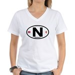 Norway Euro-style Code Women's V-Neck T-Shirt