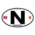 Norway Euro-style Code Oval Sticker