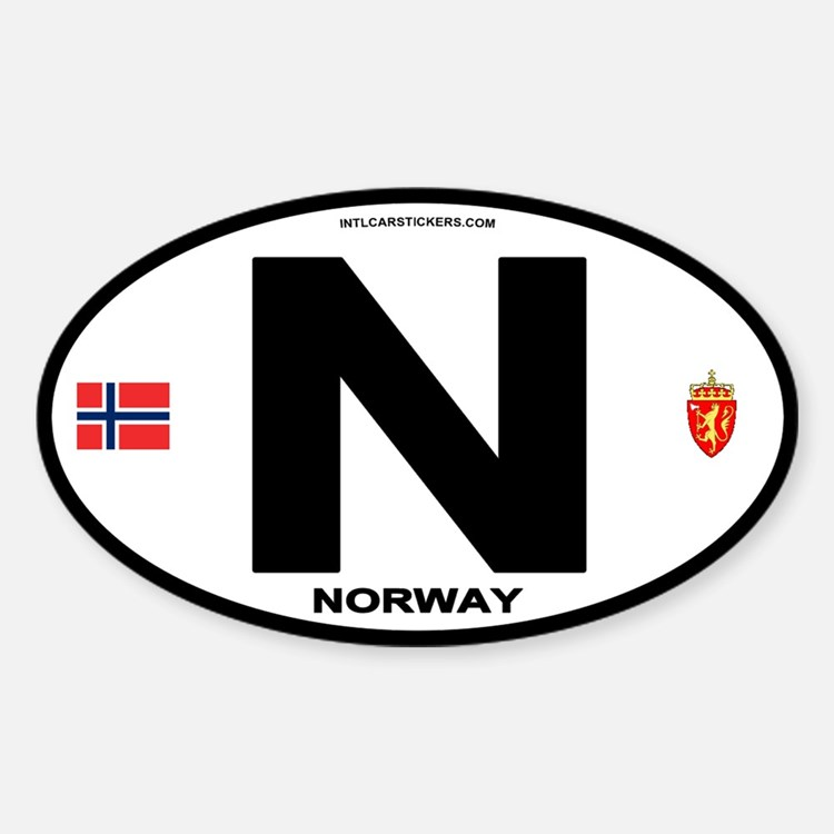 Norway Euro-style Code Oval Decal