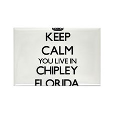 Keep calm you live in Chipley Florida Magnets