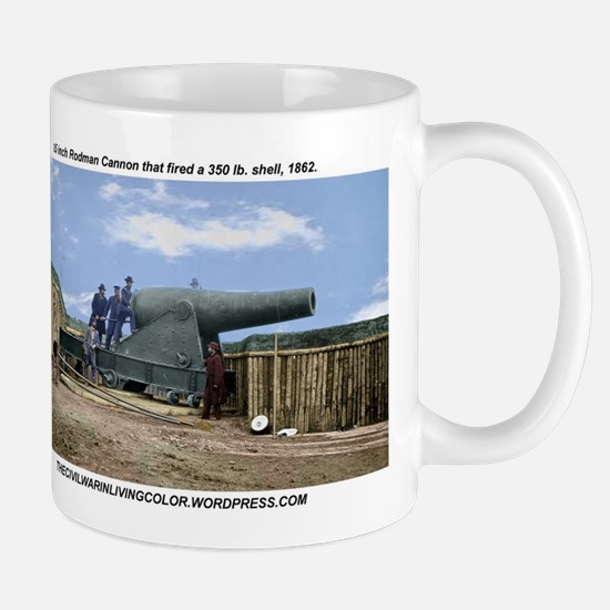 Rodman Civil War Cannon Mugs