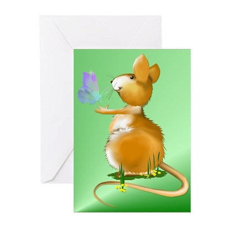 Cute Field Mouse Greeting Cards (Pk of 20)