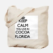 Keep calm you live in Cocoa Florida Tote Bag