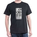 Wanted John Wilkes Booth Dark T-Shirt
