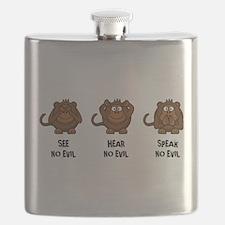 Three Wise Monkeys Flask