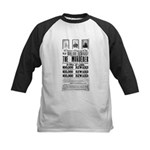 Wanted John Wilkes Booth Kids Baseball Jersey