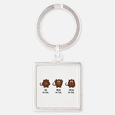 Three Wise Monkeys Keychains