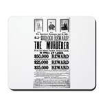 Wanted John Wilkes Booth Mousepad