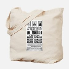 Wanted John Wilkes Booth Tote Bag