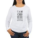 Wanted John Wilkes Boo Women's Long Sleeve T-Shirt