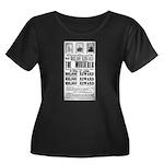 Wanted J Women's Plus Size Scoop Neck Dark T-Shirt