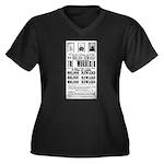 Wanted John Women's Plus Size V-Neck Dark T-Shirt