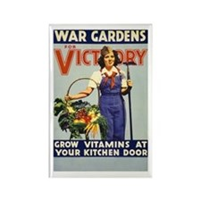 WAR GARDEN GIRL fridge magnet