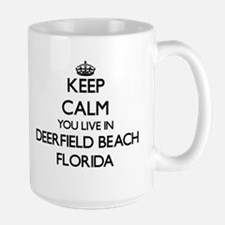 Keep calm you live in Deerfield Beach Florida Mugs