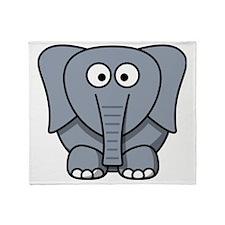 Cartoon Elephant Throw Blanket
