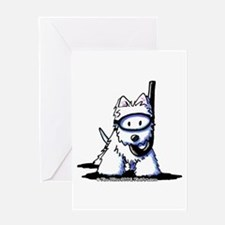 Scuba Westie Greeting Card