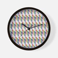 Colorful Crayons Wall Clock
