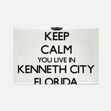 Keep calm you live in Kenneth City Florida Magnets