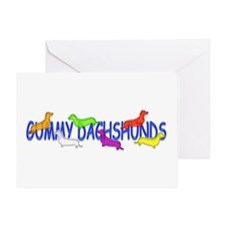 Gummy Dachshunds Greeting Card