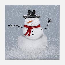 Snowman Tile Coaster