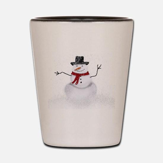 Snowman Shot Glass