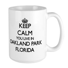 Keep calm you live in Oakland Park Florida Mugs
