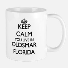 Keep calm you live in Oldsmar Florida Mugs
