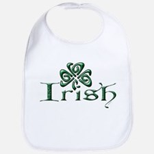 Irish: Celtic Shamrock' Bib