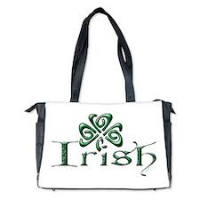 Irish: Celtic Shamrock' Diaper Bag